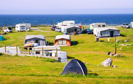 coast: Camping at sea coast in  summer