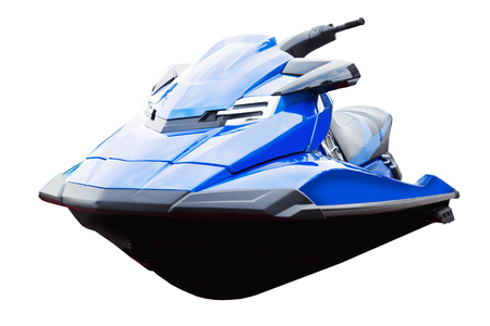 underwing: Personal water craft (PWC) isolated on white close up