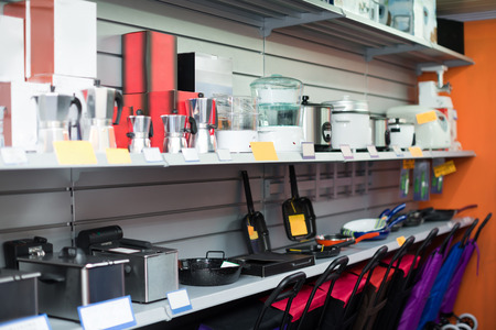 appliances: Small household appliances section at hypermarket