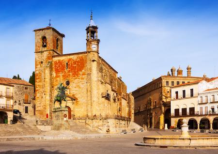 pizarro: Day view of Plaza Mayor at Trujillo,  Spain
