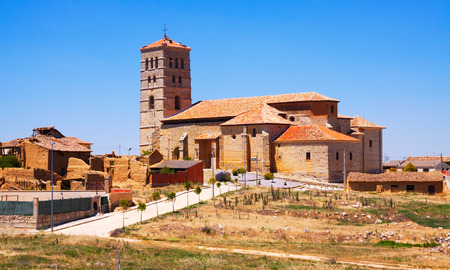 palencia province: Church of Torremormojon. Province of Palencia, Castile and Leon, Spain Stock Photo