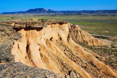 navarra: cliff at semi-desert landscape in  Navarra, Spain