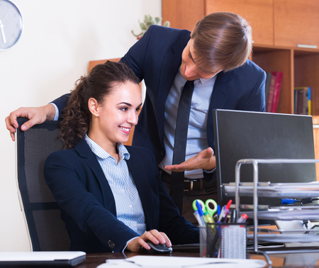 molestation: Sexual  harassment between colleagues and flirting in office