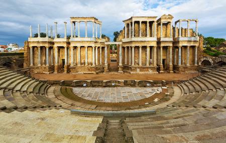 merida: ruin of Antique Roman Theatre at Merida