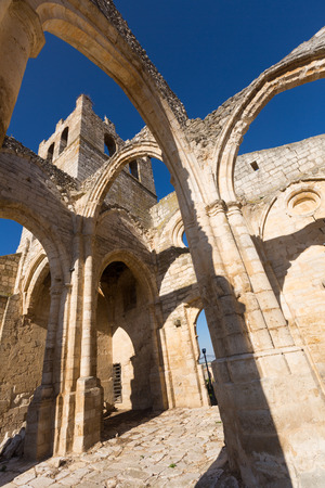 palencia province: abandoned of  Church of Santa Eulalia in Palenzuela.  Province of Palencia,  Spain
