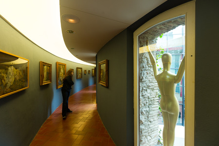 surrealist: FIGUERES, SPAIN - JANUARY 03, 2016: Collection of figurines, images and other art works at The Dali Theatre and Museum (Teatre-Museu Dali), Catalonia