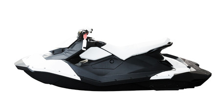 Personal water craft (PWC) isolated on white close up
