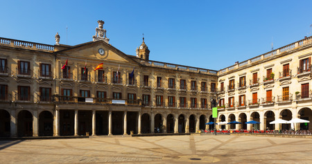 gasteiz: Day view of  New Square and city hall. Vitoria-Gasteiz,  Spain
