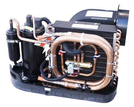 Boat conditioning and ventilation system with electronic control isolated