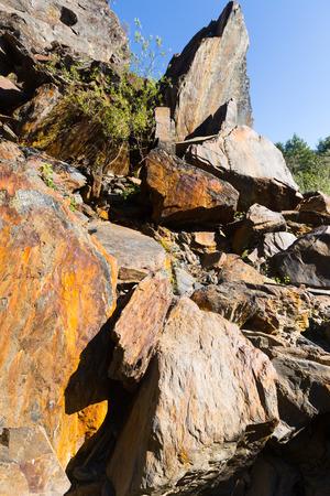 galicia: Rocky landscape with big stones . Galicia,  Spain Stock Photo