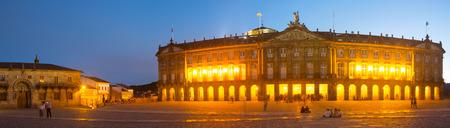 rajoy: Rajoy Palace (Palacio de Rajoy)  in evening  time. Santiago de Compostela,  Galicia, Spain Editorial
