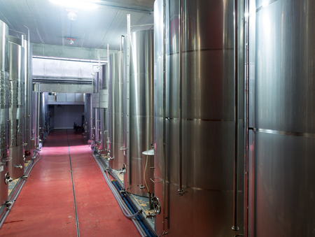 stell: stell barrels   in contemporary winemaker factory