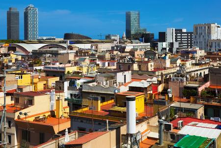 gotico: ver a los rascacielos del distrito histórico de Born. Barcelona