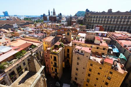 gotico: Barcelona - Barrio Gótico de Santa María del mar. Cataluña, España Foto de archivo