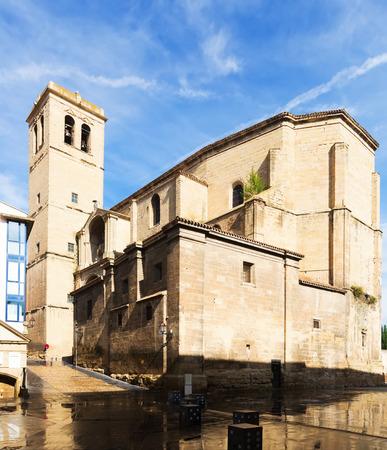 rioja: Church of Santiago el Real in Logrono. Rioja, Spain Stock Photo