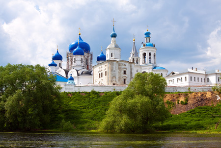 bogolyubovo: Summer view of nunnery. Bogolyubovo, Vladimir region, Golden Ring of Russia