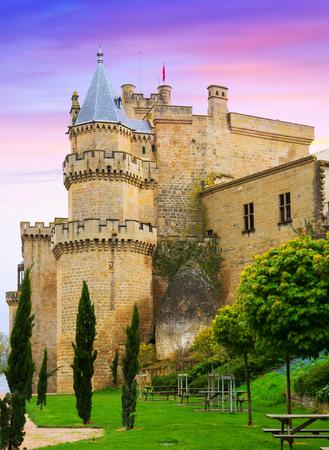 old medieval castle. Olite, Navarre Editorial