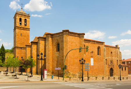 plateresque: Plateresque Concathedral of San Pedro, erected in the 12th-13th centuries, rebuilt in the 16th century. Soria, Spain Stock Photo