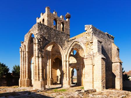 castile leon: Ruins of the Church of Santa Eulalia in Palenzuela.   Castile and Leon, Spain