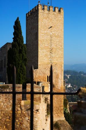ebre: Tower of Suda castle in Tortosa. Catalonia, Spain