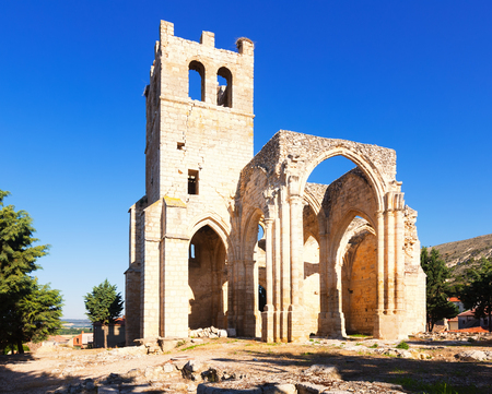 palencia province: Ruins of the Church of Santa Eulalia in Palenzuela.  Province of Palencia, Castile and Leon, Spain