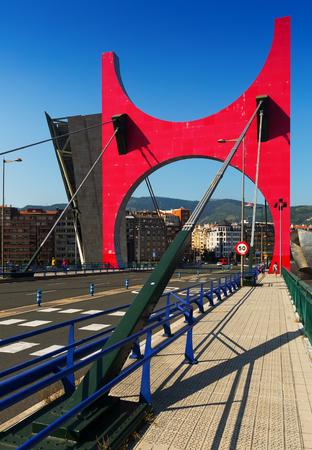 salve: BILBAO, SPAIN - JULY 4, 2015:  La Salve Bridge  in sunny day.  Bilbao,  Spain