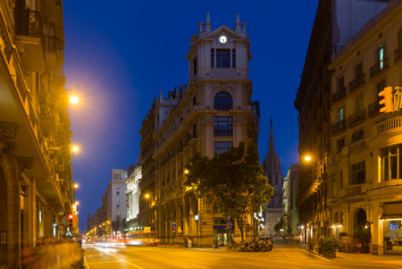 thoroughfare: Via Laietana is  name of  major thoroughfare in Barcelona, Catalonia, Spain in  old  district