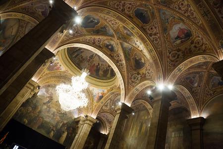 generalitat: St. George Hall (Salon de San Jorge) in palace Generalitat de Catalunya. Barcelona