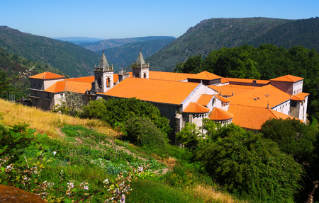 orense: View of Monastery of San Esteban (Ribas de Sil). Galicia,  Spain