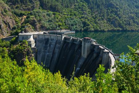 galicia: dam of water power plant. Galicia, Spain