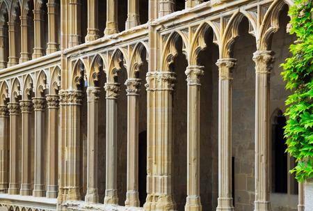 gothic castle: Details of gothic castle. Olite, Spain