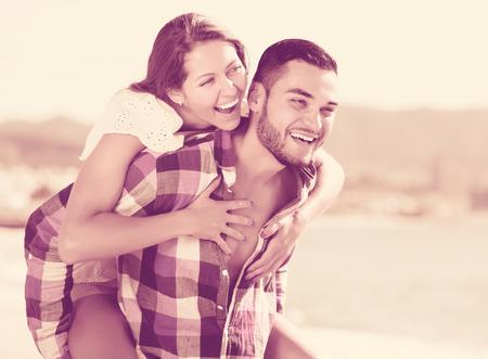 a newly married couple: Newly married couple having homeymoon at tropical beach