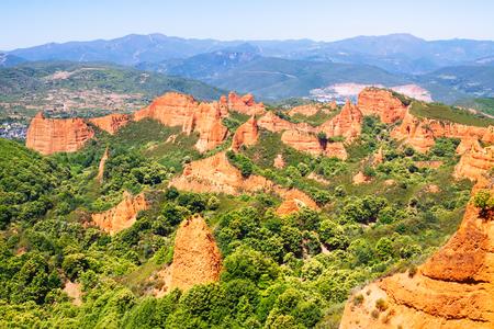 mine site: Las Medulas - historical site with abandoned gold mine of Roman Empire.  Ponferrada. Province of Leon,  Spain