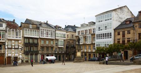 dwelling: VIVEIRO, SPAIN - JULY 1, 2015: Traditional galician dwelling  architecture at Viveiro. Galicia, Spain