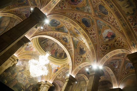generalitat: Interior of St. George Hall (Salon de San Jorge) in palace Generalitat de Catalunya. Barcelona