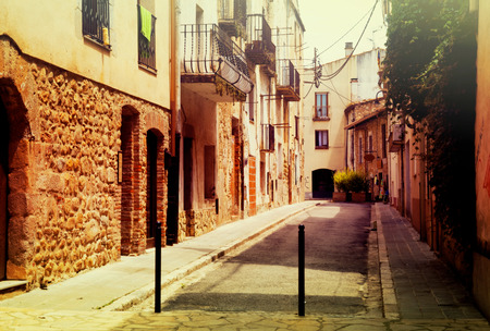 breda: narrow street in European town. Breda, Spain