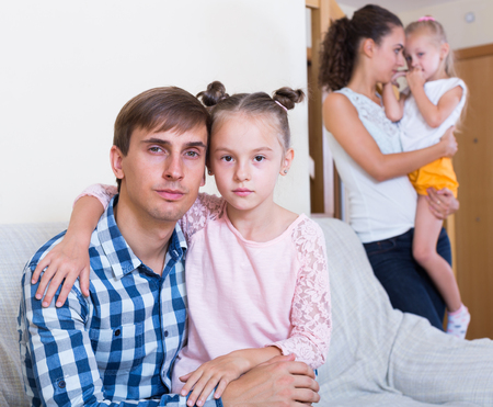 Spouses with  daughters making decision to split up