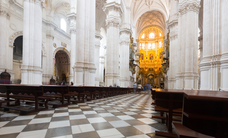 incarnation: Interior of   Cathedral of the Incarnation at Granada.  Spain