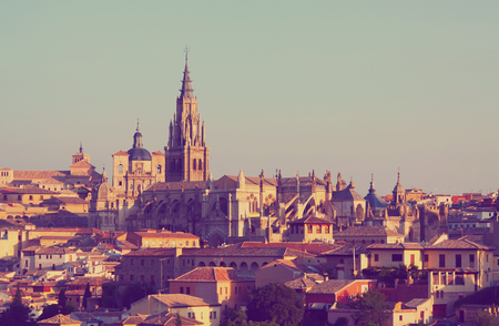primate: Primate Cathedral of Saint Mary in sunny time. Toledo, Spain Stock Photo