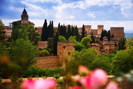 granada: fortress of Alhambra.  Granada,  Spain Editorial