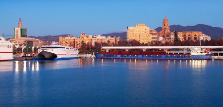 Malaga from Port in morning. Spain