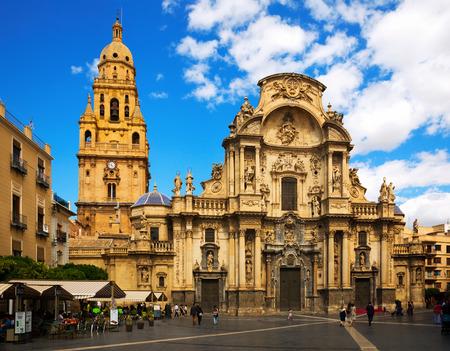 murcia: MURCIA, SPAIN - MAY 14, 2016: Cathedral Church of Saint Maria at Murcia