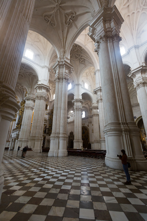 incarnation: GRANADA, SPAIN - MAY 13, 2016:  Interior of   Cathedral of the Incarnation at Granada