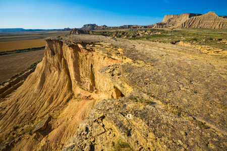 navarra: cliff at desert landscape of Navarra, Spain