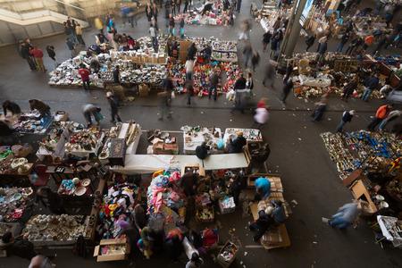 mercat: BARCELONA, SPAIN - APRIL 6, 2016:  Mercat de Encants flea market in Barcelona, Spain