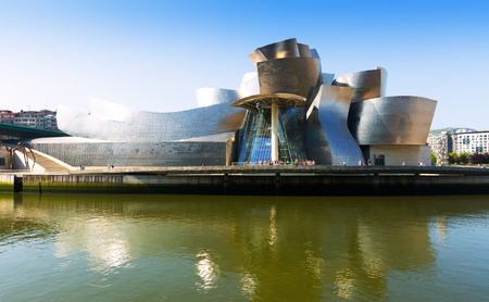 BILBAO, SPAIN - JULY 4, 2015:  Guggenheim Museum  by Canadian-American architect Frank Gehry. Bilbao, Basque Country Editorial