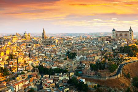 mancha: Morning view of Toledo. Castile�La Mancha,  Spain
