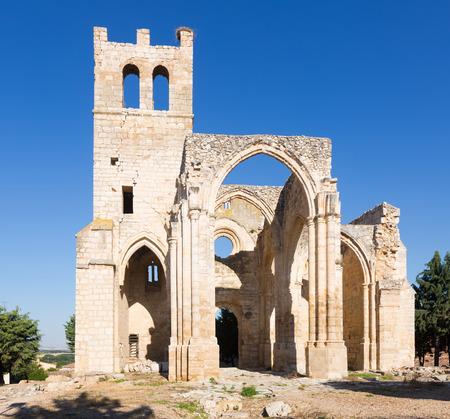Church of Santa Eulalia in Palenzuela.  Province of Palencia, Castile and Leon, Spain Stock Photo