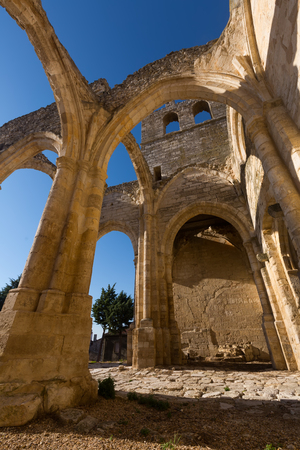 Ruins of  Church of Santa Eulalia in Palenzuela.  Province of Palencia