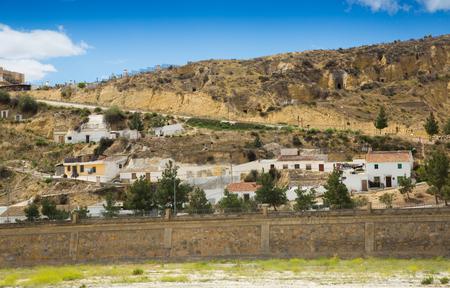 dwellings: Dwellings houses into rock at Puerto Lumbreras.  Spain